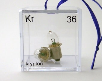 Krypton - Periodic Table of Elements Cube Ornament