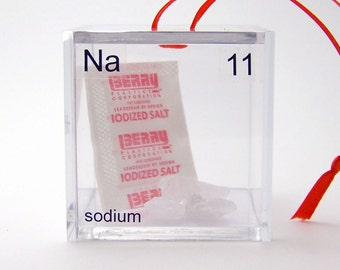 Sodium - Periodic Table of Elements Cube Ornament