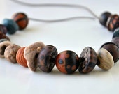 Handmade Authentic Polymer Clay Necklace, Special Beads