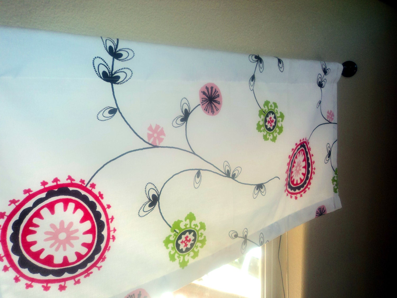 valance nursery valance pink flowers pink curtains by sewmodish