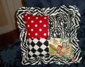 Shabby Chick Patchwork Pillow indoor use