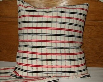 Vintage Traditional Romanian Hand Woven Wool Cushion Pillow Cover