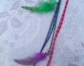 Fruit Punch Synthetic Hair and Feathers Extension/Hair Clip Fun Dress up Accessory