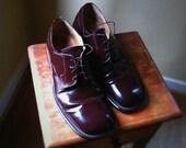 Men's Cappelletti Italian leather shoe size 12 Eur 46 brown dress not wingtip