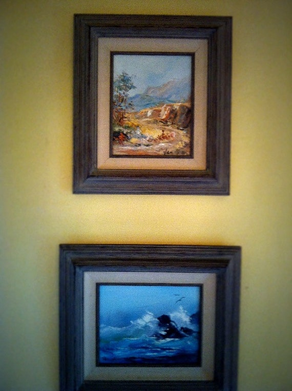 Sale Two Alida Van Gores Paintings Ocean Seascape And Desert