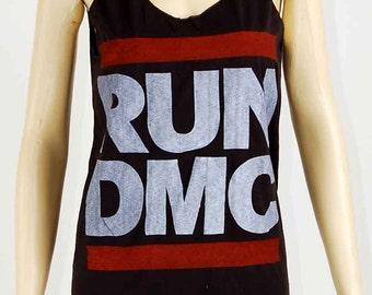 RUN DMC King Of Rock Hip Hop Vintage Women T-shirt Mini Dress M L