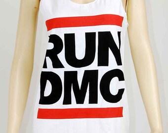 RUN DMC King Of Rock Hip Hop Vintage Women T-shirt Mini Dress S M