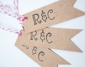 Custom Personalized Wedding Favor Gift Tags  Set of 20