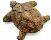 Turtle-Earth-Art-Handmade-Sculpted-Wall Hanging