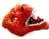 Dragon-Handmade-Paper Mache-Sculptured-Art Mask