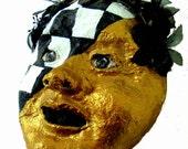 Court Jester-Clown-Paper Mache-Magician-Art-Mask