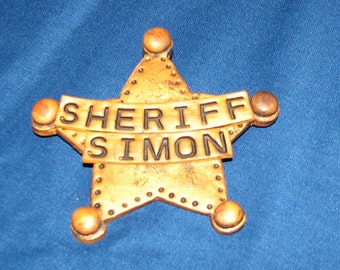 Childs Sheriff Badge, Personalized