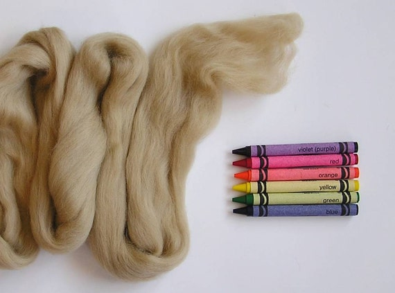 MERINO WOOL TOP - Taupe (approximately 1 oz) - From Purple Moose Felting