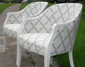 Beautifully refurbished chairs with a fresh, modern look
