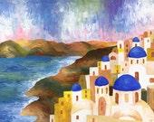 "Greece GICLEE ART PRINT 6"" x 8"""