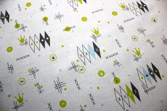 1 Fat Quarter in 'Atomic League' / Original Fabric / Kona Cotton