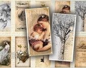 Emotions - domino image - digital collage sheet - 1 x 2 inch - Printable Download