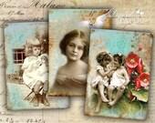 OLD Foto - digital collage sheet - set of 6 - Printable Download