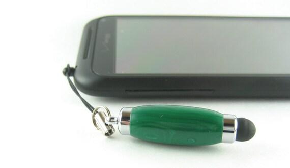 Green Malachite and Chrome Mini Stylus