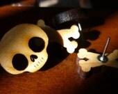 Halloween Skull and Crossbones Earring Set