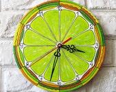 The Lemon Citrus Wall Clock