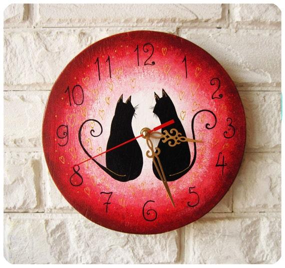 Часы кошка своими руками