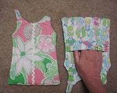 Shift Dress-Shaped Pot Holder M/W Lilly Pulitzer Fabric - Hit the Spot and Giddy Up