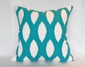 Pillow Covers ANY SIZE Decorative Pillow Cover Pillows Home Decor Premier Prints Chaz True Turquoise White