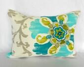 Outdoor Lumbar Pillow Covers Decorative Pillows Turquoise Pillow P Kaufmann Outdoor Silsila Poolside