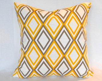 Pillow Covers ANY SIZE Decorative Pillows Yellow Pillows Premier Prints Annie Yellow