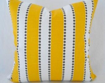 Pillow Covers ANY SIZE Decorative Pillows Yellow Pillows Yellow Stripe Premier Prints Lulu Corn Yellow