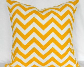 Pillow Covers ANY SIZE Decorative Pillows Yellow Pillows Yellow Chevron Premier Prints Zizag Corn Yellow