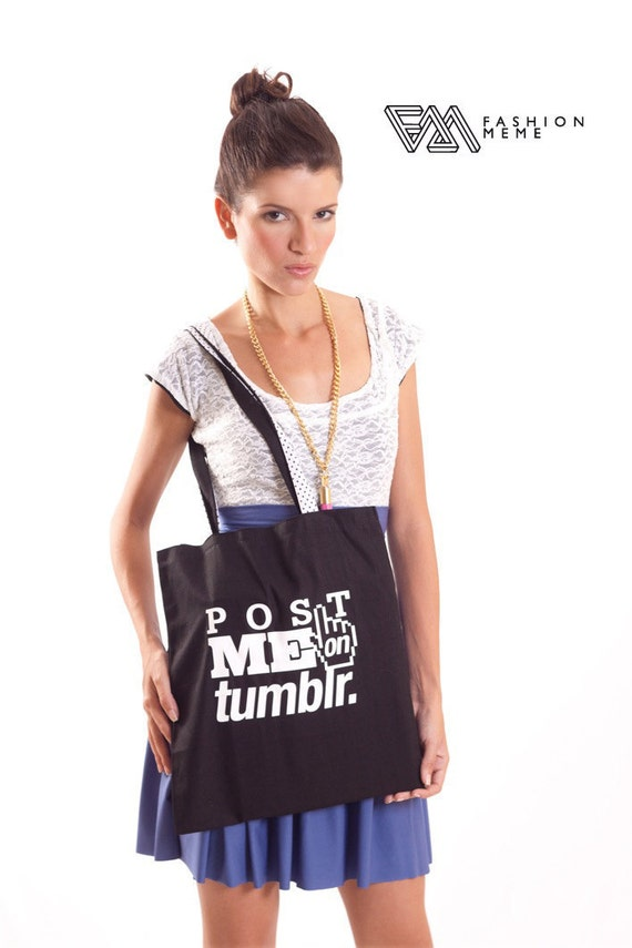 Black Canvas Tote Post me on Tumblr