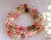 Full Strand - 8mm Watermlon Tourmaline Semi Precious Beads