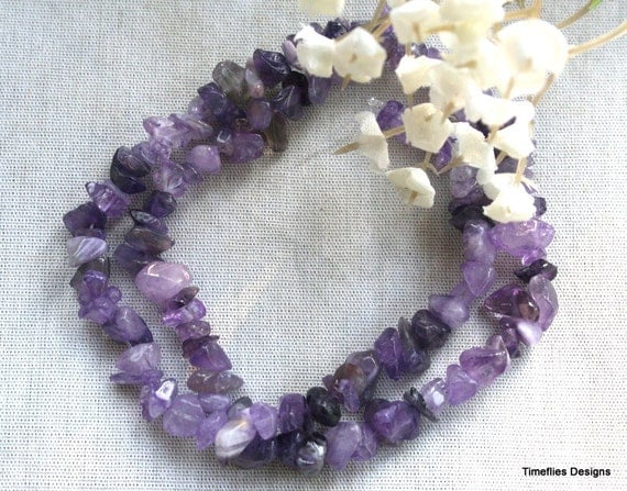 8 - 10mm Natural Amethyst Chips