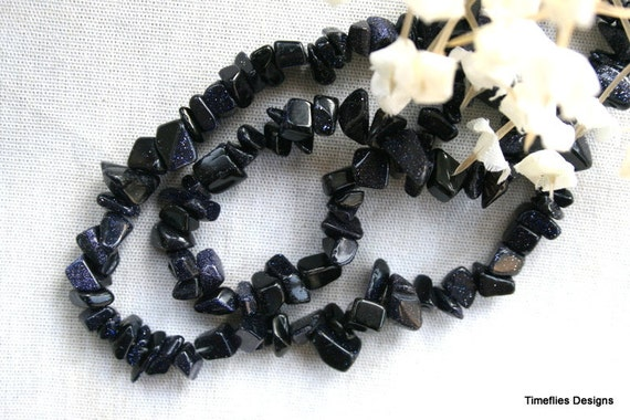 6-10mm Sparkly Blue Goldstone Chips