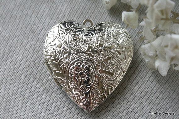Silver Plated Heart Locket/Pendant