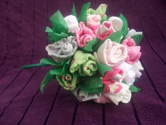 Items similar to Baby Girl Bouquet socks hats wash