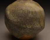 Lichen Vase, Thrown and Altered