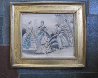 1860 Capewell and Kimmel Hand Colored Steel Engraving