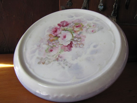 Antique German Porcelain Hot Plate made by Three Crown China