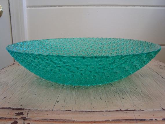 Vintage Glass Hobnail Bowl