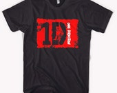 New ONE DIRECTION Boy Band Black T-Shirt S - 2XL