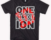 ONE DIRECTION Boy Band Black T-Shirt S - 2XL