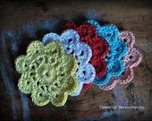 Handmade crochet coasters-set of 5.