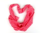 Scarf pink with coral dappled for spring and summer