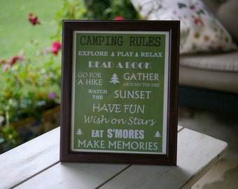 Rules Sign PRINT ONLY