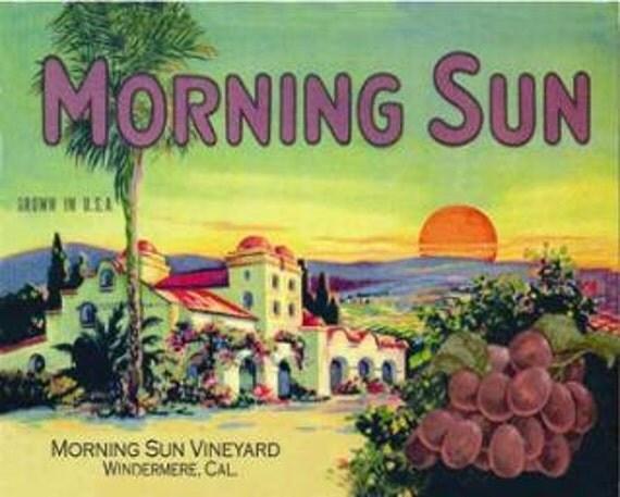 Morning Sun Vintage Metal Sign