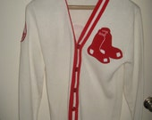 Boston Red Sox Letterman Cardigan True Vtg Rare Collectible Letter Sweater