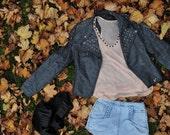 Studded Ashy Leather Jacket